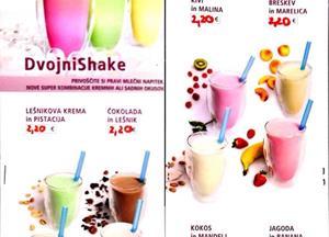 """FRESH"" ponudba v Štiblcu: - sveži poletni KOKTEJLI - shaken ICE TEA - NOVO: Double Shake - 8..."
